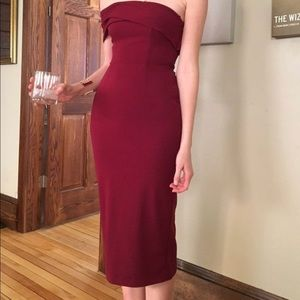{Katie May LA} 🍷 Red Strapless Cocktail Dress